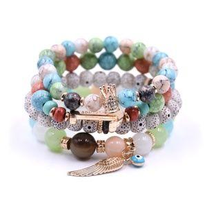 Jewelry - Stone Natural Beads Bracelet w/Drawstring Pouch